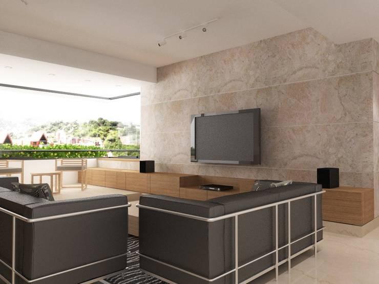 Salas / recibidores de estilo  por RRA Arquitectura