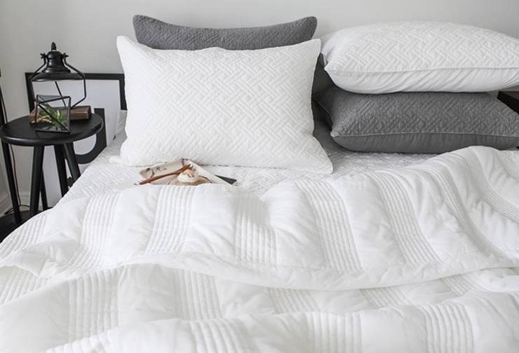 슬로우 피그먼트 차렵베딩-아이보리 : cozycotton의  침실