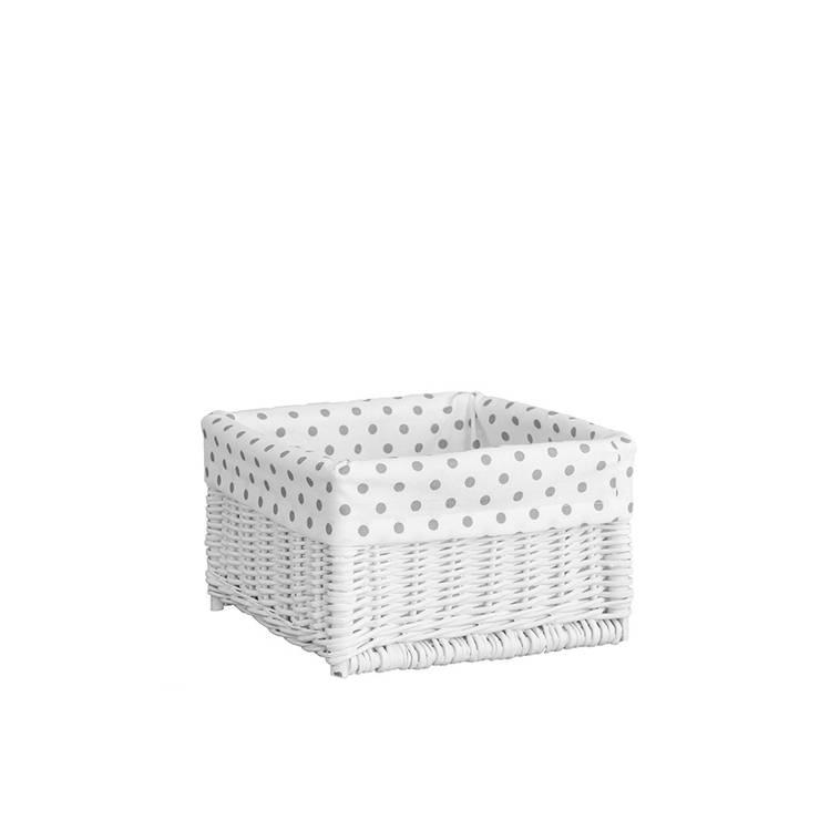 Kosz biały Groszki szare: styl , w kategorii Pokój dziecięcy zaprojektowany przez youngDECO