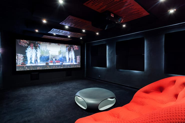 modern Media room by Venturi Home Solutions