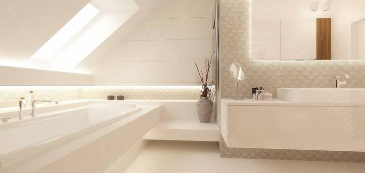 Luksusowa łazienka z dużą wanną: styl , w kategorii  zaprojektowany przez Intellio designers