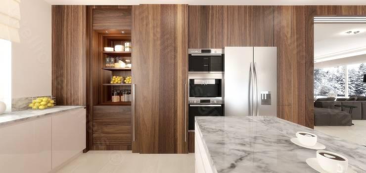 Nowoczesna kuchnia: styl , w kategorii  zaprojektowany przez Intellio designers