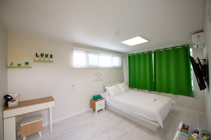 غرفة نوم تنفيذ 쭈욱 게스트하우스