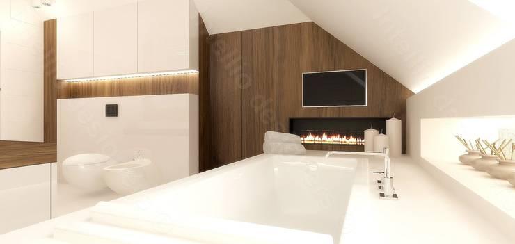 Salon kąpielowy: styl , w kategorii  zaprojektowany przez Intellio designers