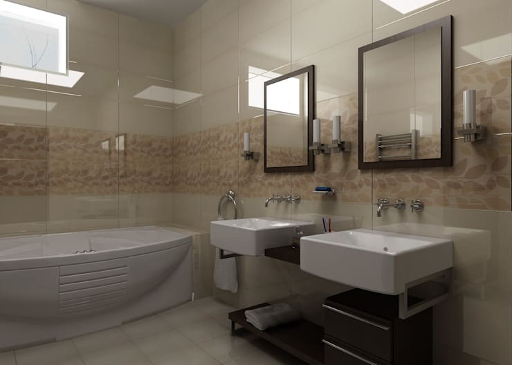 Ванная комната: Ванные комнаты в . Автор – Бюро9 - Екатерина Ялалтынова,
