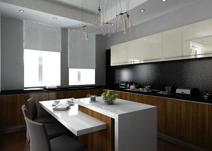 Кухня: Кухни в . Автор – Бюро9 - Екатерина Ялалтынова,
