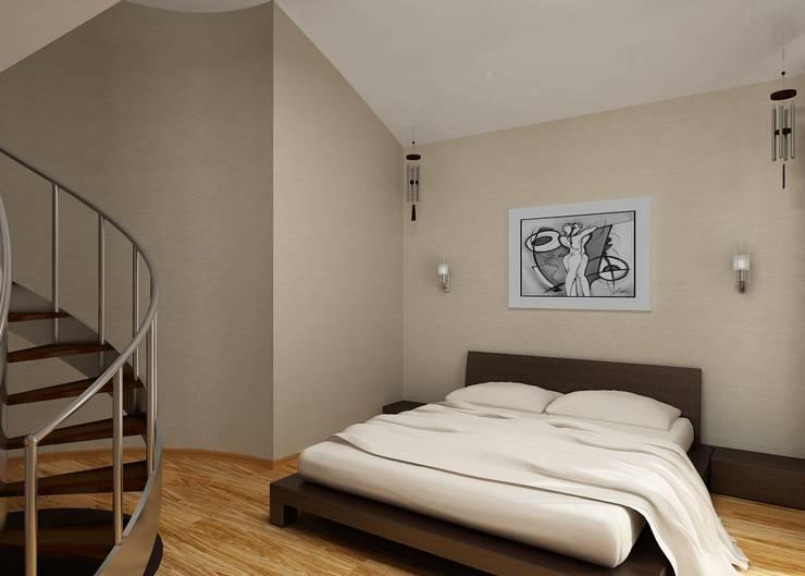 Спальня: Спальни в . Автор – Бюро9 - Екатерина Ялалтынова,