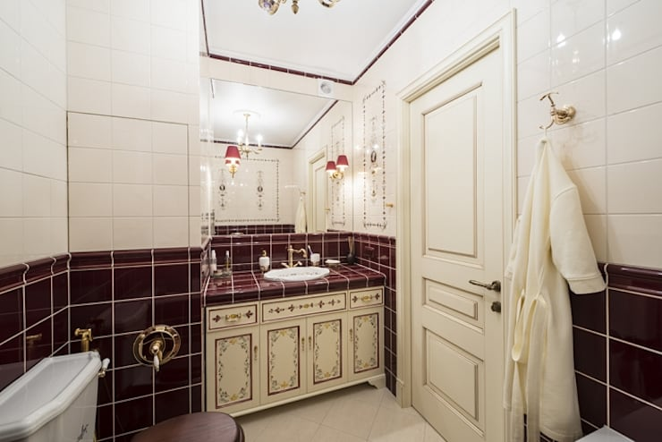 Проект квартиры в Викторианском стиле : Ванная комната в . Автор – NABOKOFF английские интерьеры ,