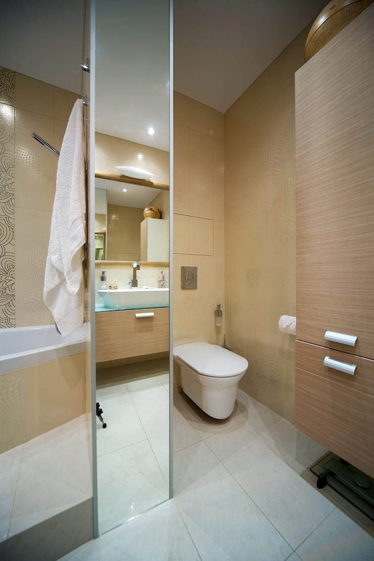 Ванная комната: Ванные комнаты в . Автор – Бюро9 - Екатерина Ялалтынова, Эклектичный