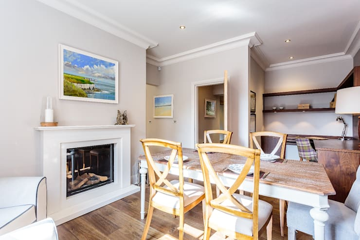 Dining Room, Old Police Station Harrogate - Showhouse:  Dining room by Rachel McLane Ltd