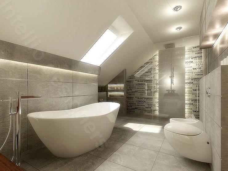 Łazienka na poddaszu: styl , w kategorii  zaprojektowany przez Intellio designers