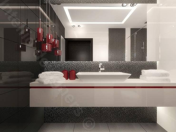 Łazienka nowoczesna: styl , w kategorii  zaprojektowany przez Intellio designers