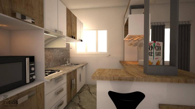 Mr. Bharat 's residence : modern Kitchen by Initios Designs