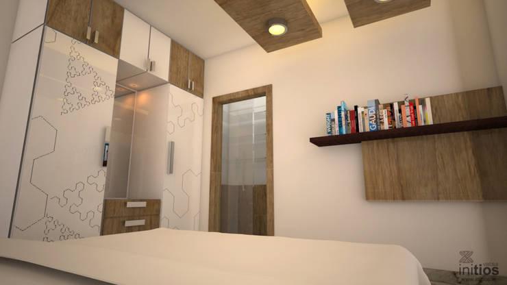 Mr. Bharat 's residence : modern Bedroom by Initios Designs
