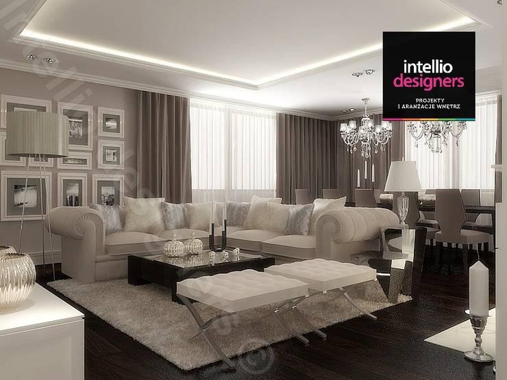 Salon - luksus i styl: styl , w kategorii Salon zaprojektowany przez Intellio designers,Klasyczny