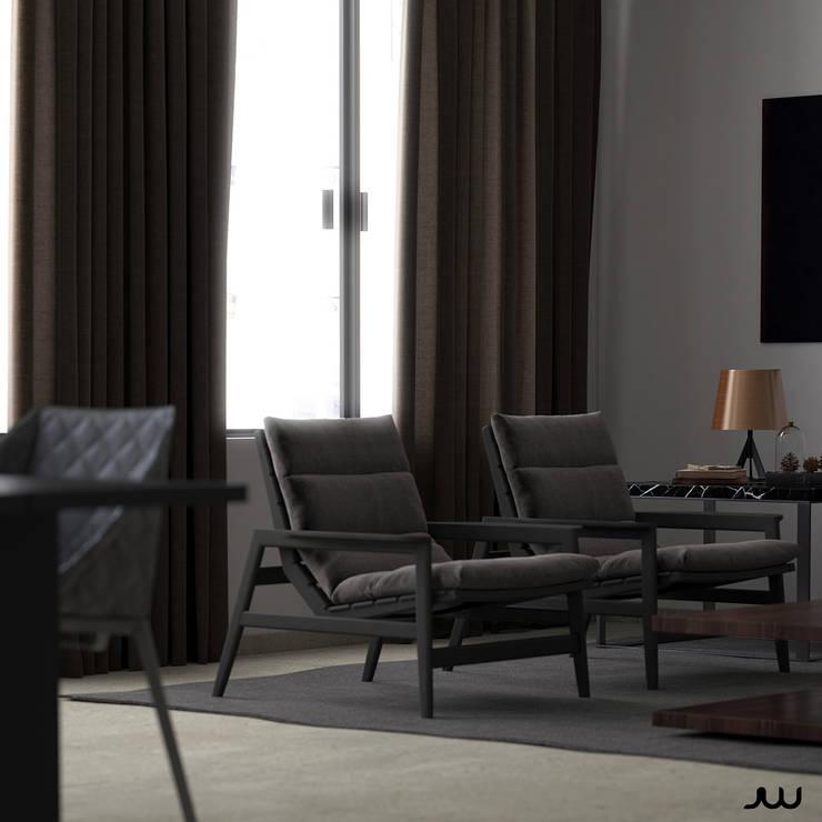 Loft: Livings de estilo  por JW Renders