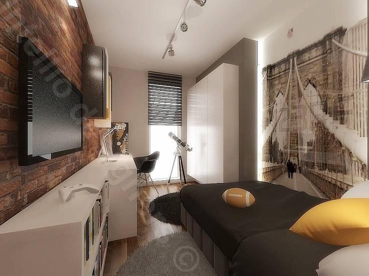 Pokój nastolatka: styl , w kategorii Pokój multimedialny zaprojektowany przez Intellio designers,Nowoczesny