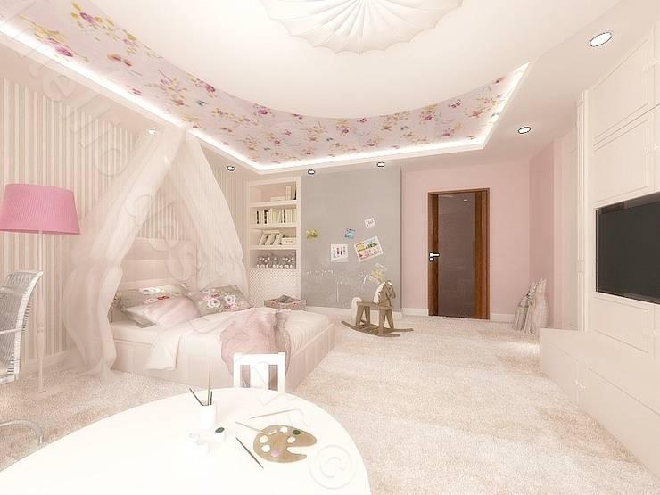 Świat małej księżniczki Projekty Intellio desingers: styl , w kategorii Pokój dziecięcy zaprojektowany przez Intellio designers,Nowoczesny