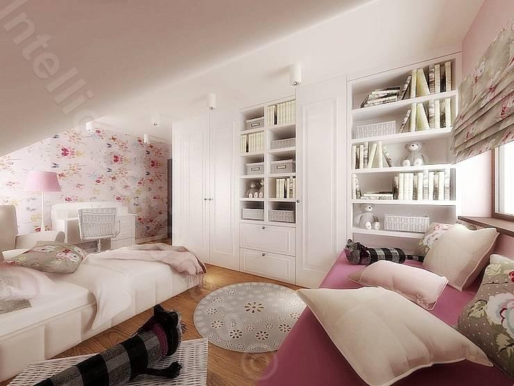 Pokój małej dziewczynki Kraków: styl , w kategorii Pokój dziecięcy zaprojektowany przez Intellio designers,Nowoczesny