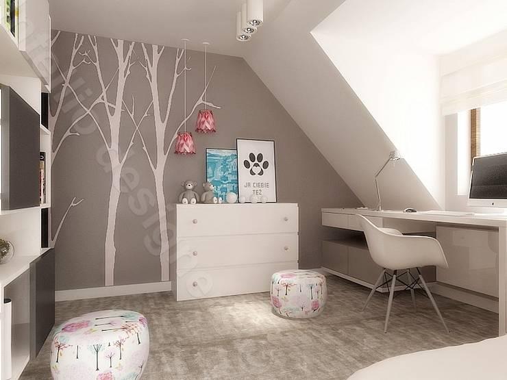 Pokój dziewczynki projekty wnętrz: styl , w kategorii Pokój dziecięcy zaprojektowany przez Intellio designers,Nowoczesny