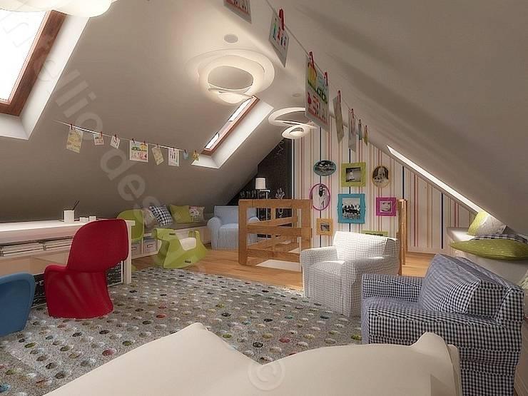 Pokój dziecka na poddaszu: styl , w kategorii Pokój dziecięcy zaprojektowany przez Intellio designers,Nowoczesny