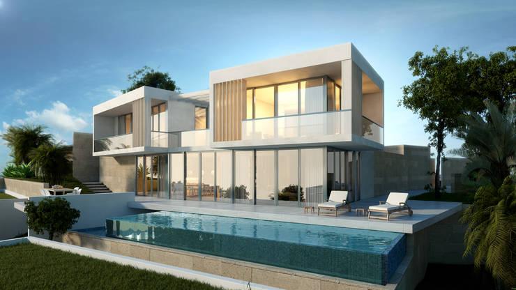 Adres Tasarım – Bodrum Villa: akdeniz tarzı tarz Evler