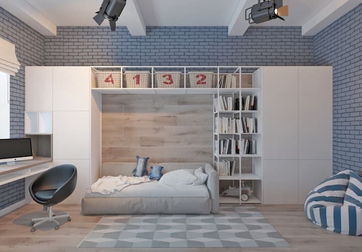 Projekty,  Pokój dziecięcy zaprojektowane przez Котова Ольга