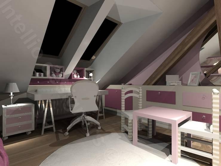 Pokoik na poddaszu: styl , w kategorii Pokój dziecięcy zaprojektowany przez Intellio designers,Nowoczesny