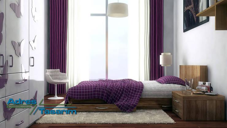 Adres Tasarım – Maziland: eklektik tarz tarz Yatak Odası