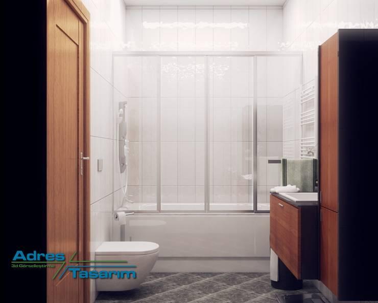 Adres Tasarım – Maziland: eklektik tarz tarz Banyo