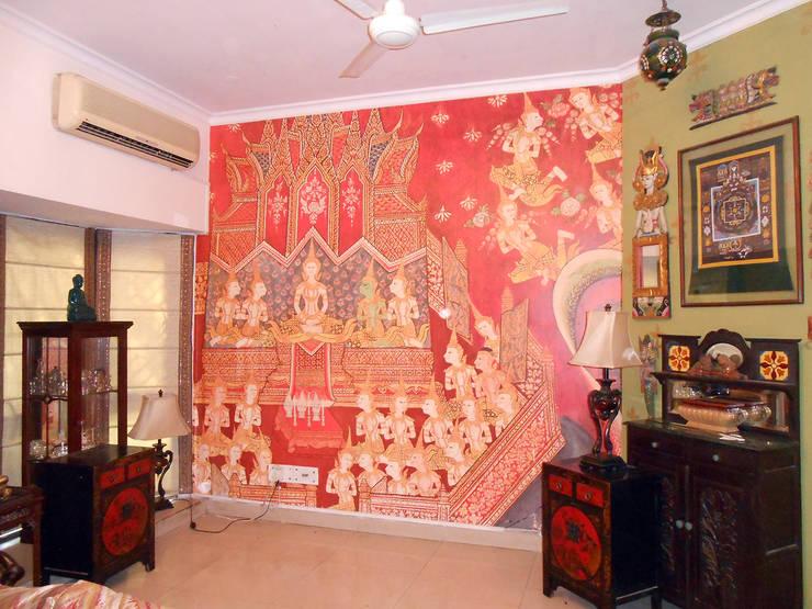 Walls:  Walls & flooring by Eye Candy Visuals Pvt. Ltd.