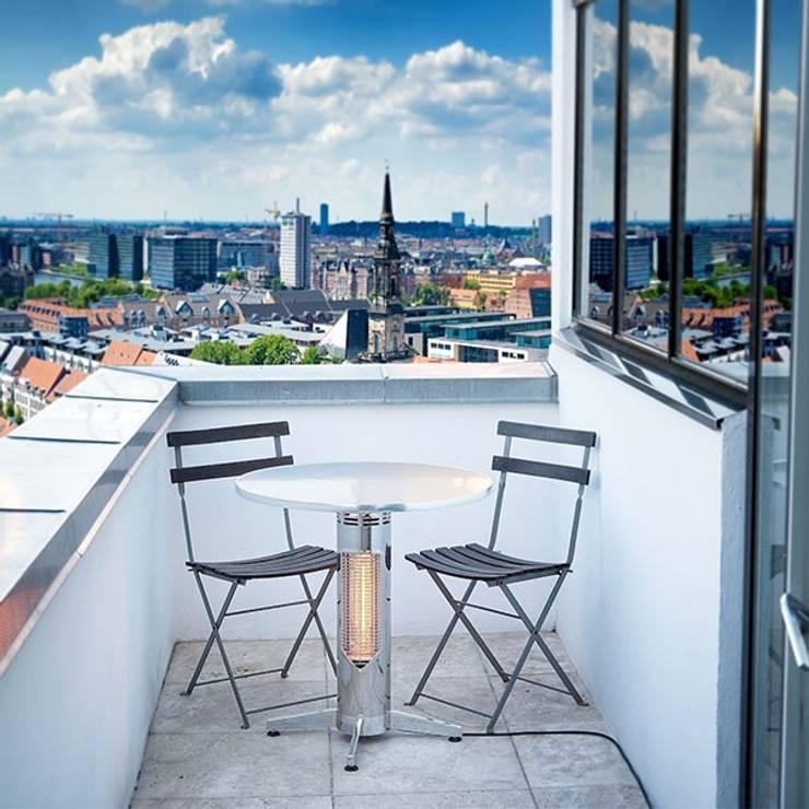 Table chauffante professionnelle VIREOO: Balcon, Veranda & Terrasse de style de style Moderne par Batiwiz SAS