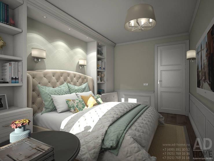 Дизайн интерьера спальни в двухэтажном доме, 120 кв. м, Московская область: Спальни в . Автор – Ad-home,