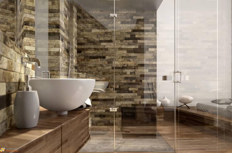 KRISZTINA HAROSI - ARCHITECTURAL RENDERING의  욕실