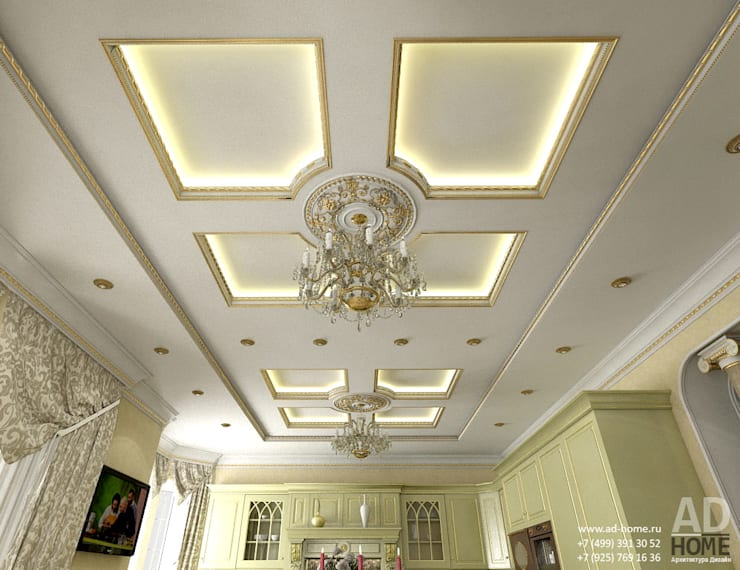 Дизайн интерьера кухни в  доме в классическом стиле , 370 кв. м в, Московская область : Кухни в . Автор – Ad-home