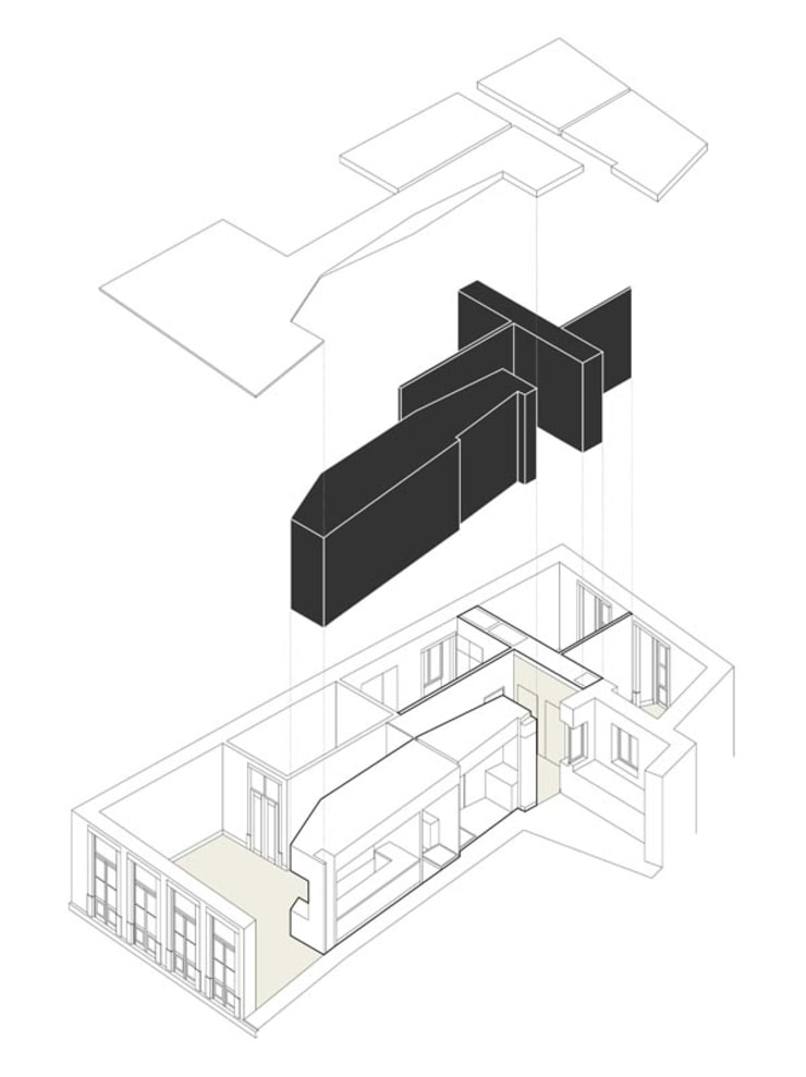 AXONOMETRIA EXPLODIDA: Paredes  por COLECTIVO arquitectos