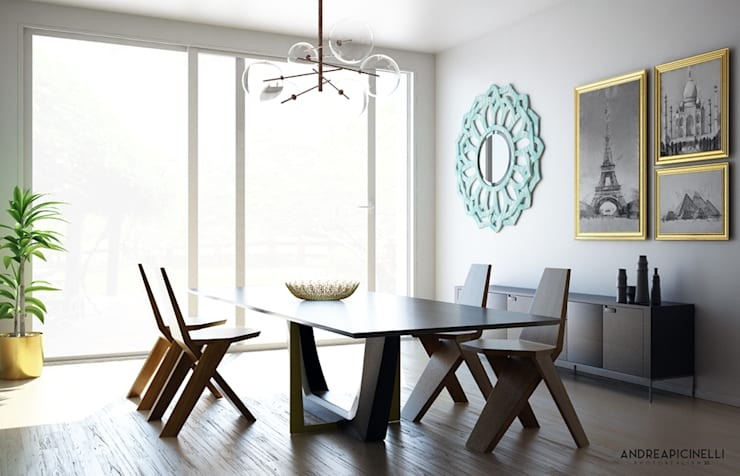 minimalistic Dining room by Andrea Picinelli
