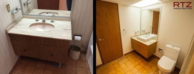Cambio de pisos luminarias, madera y pintura:  de estilo  por RTZ-Arquitectos