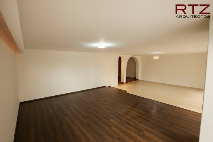 Sala y comedor acabadas:  de estilo  por RTZ-Arquitectos