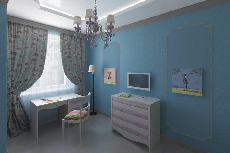 Квартира в Измайлово: Детские комнаты в . Автор – Анна Путенис. Дизайнер и 3D- визуализатор (интерьеры),
