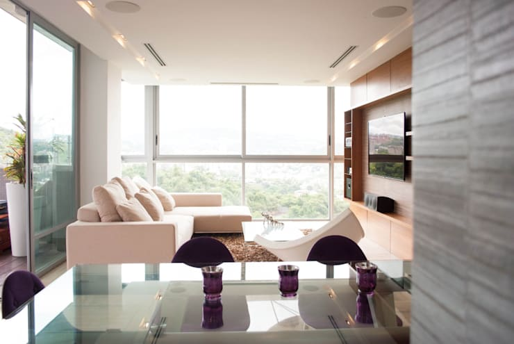 Living room by VODO Arquitectos, Modern