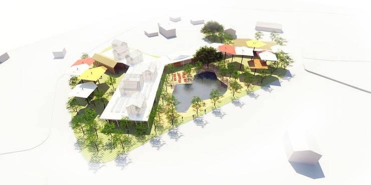 vivero municipal:  de estilo  por adjkm colectvo de arquitectos