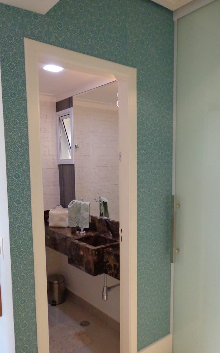Residência Vale do Paraíba – SP Banheiros modernos por ANALU ANDRADE - ARQUITETURA E DESIGN Moderno