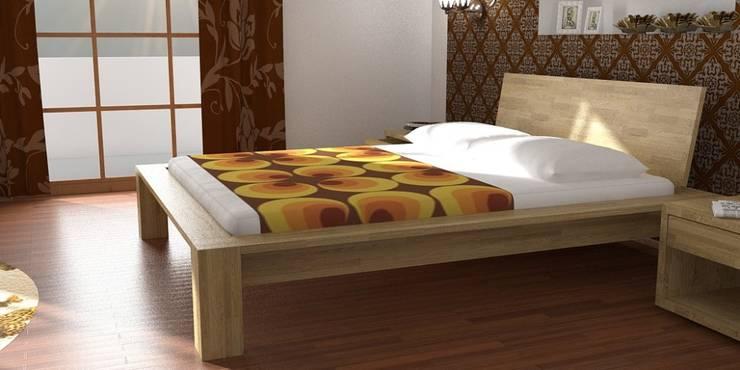 Łóżko Paris: styl , w kategorii  zaprojektowany przez onemarket.pl,Śródziemnomorski Drewno O efekcie drewna