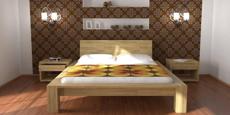Łóżko Paris - front: styl , w kategorii  zaprojektowany przez onemarket.pl,Śródziemnomorski Drewno O efekcie drewna