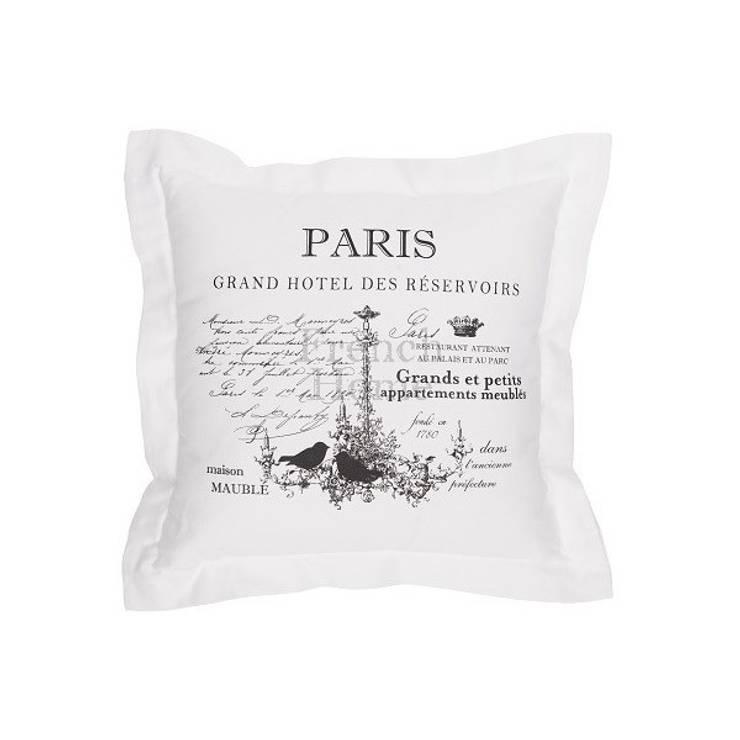 Poduszka dekoracyjna Paris: styl , w kategorii  zaprojektowany przez onemarket.pl,Śródziemnomorski Bawełna Czerwony