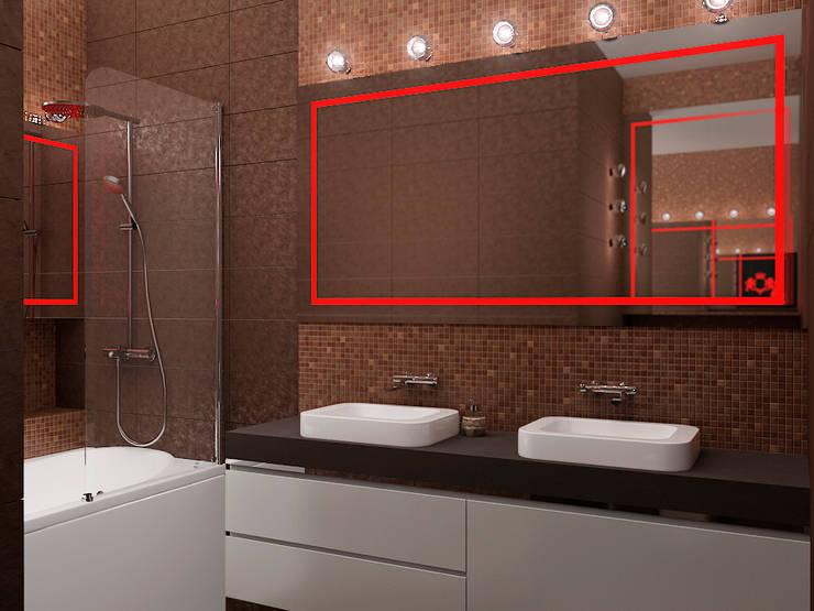 энергия черного: Ванные комнаты в . Автор – D3 Studio // Студия интерьера