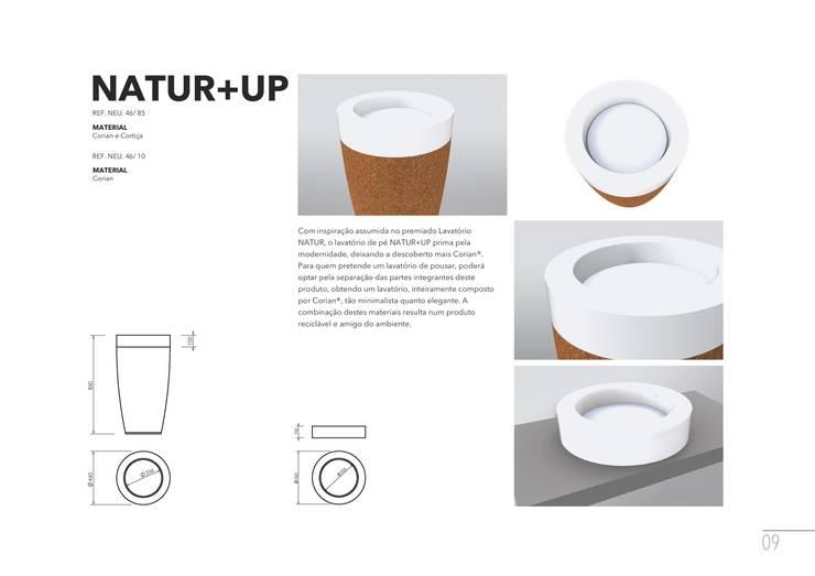 NATUR+UP: Casa de banho  por AMA Design