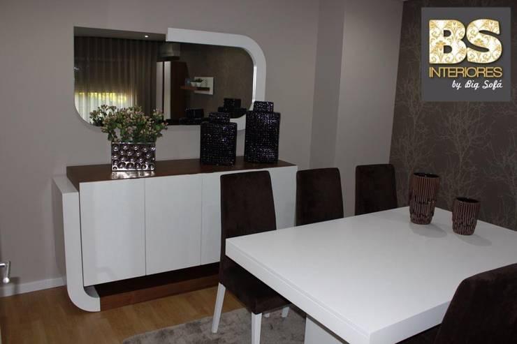 Sala de Estar/Jantar Gabriela: Sala de estar  por BS Interiores