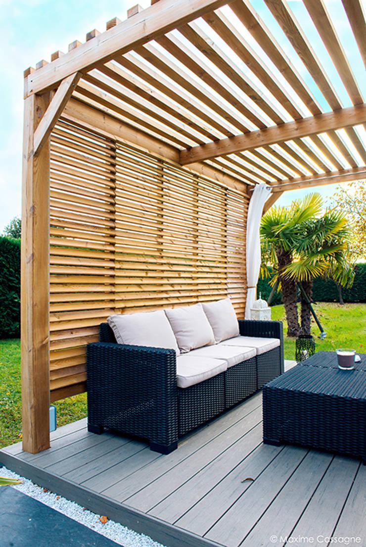 un jardin design chez soi par e p design emilie peyrille homify. Black Bedroom Furniture Sets. Home Design Ideas